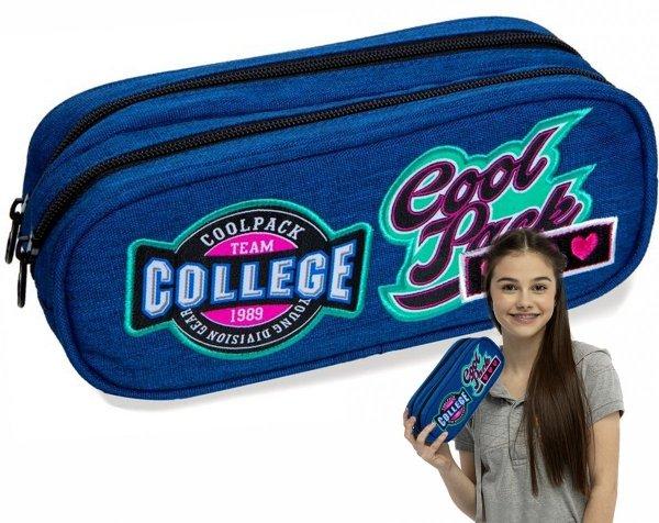 CoolPack SASZETKA Clever Badges Blue B65057 Piórnik