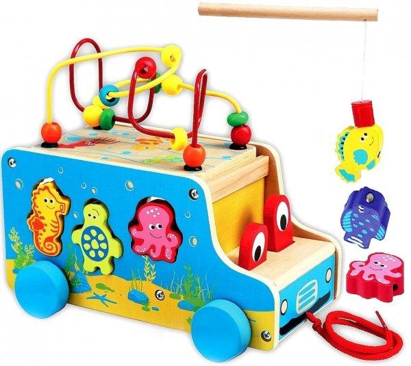 Smily Play AUTO 5w1 Drewniane EDUKACYJNE AC6665