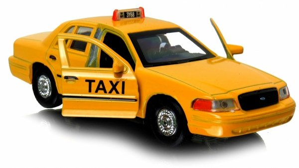 TAXI 1999 FORD CROWN VICTORIA Auto METAL Welly1:34