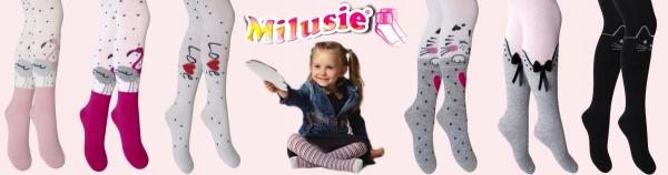 RAJSTOPY Dziecięce FLAMINGI Szare 92/98 Milusie PL