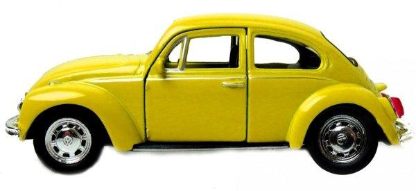 VOLKSWAGEN Beetle  Auto Żółty Metalowe Welly 1:34