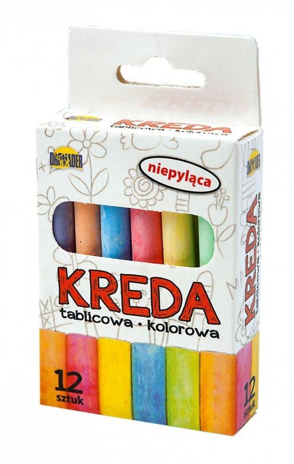 KREDA Kolorowa NIEPYLĄCA Tablicowa 12 sztuk