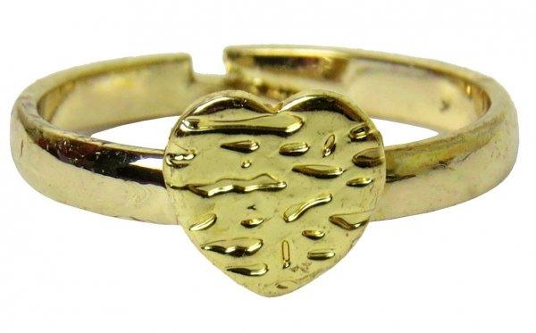 SERDUSZKO Śliczny PIERŚCIONEK GOLD Biżuteria dla Dziewczynki