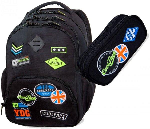 CoolPack PLECAK BENTLEY Badges Black 30L B24055 2w1