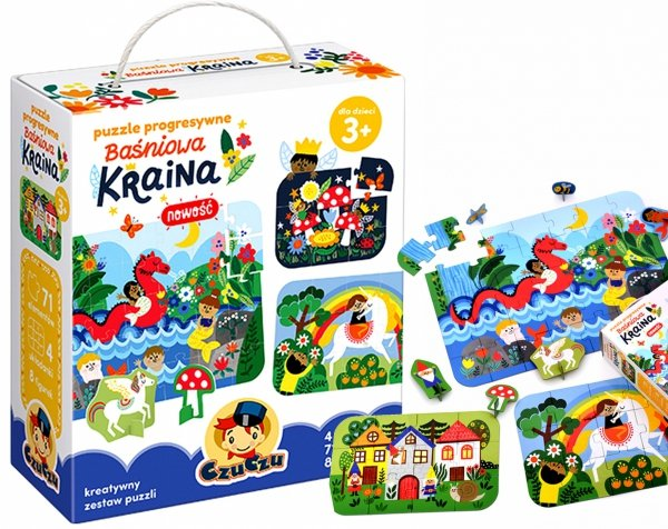 Czuczu Puzzle Progresywne Baśniowa Kraina 71 elem. Figurki Czuczu