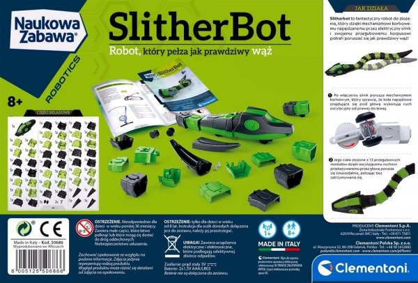 Wąż SLITHER BOT Pełzający Robot NAUKA Zabawa Clementoni