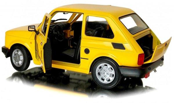 FIAT 126p Samochód PRL Duży MALUCH Auto Welly 1:21 Biały