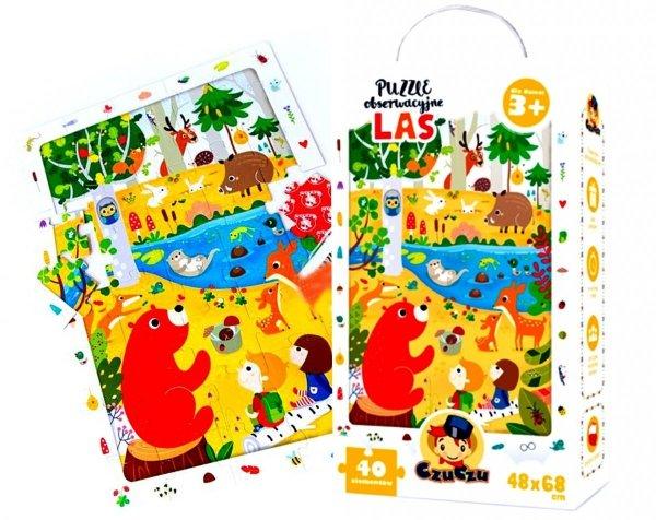 CzuCzu PUZZLE Obserwacyjne LAS 40 el Zwierzęta 3+