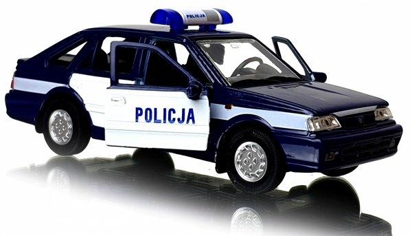 POLICJA Polonez Caro METALOWY MODEL 1:34 AUTO Welly