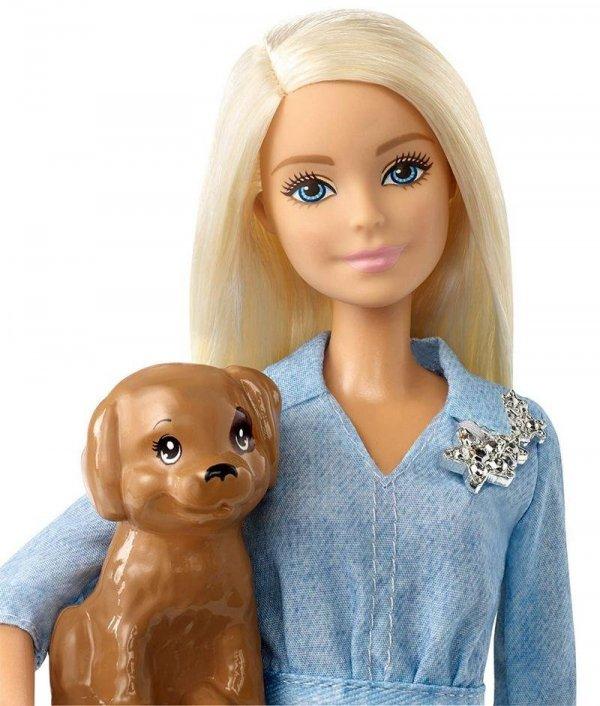 Lalka BARBIE Ken z Pieskiem na Spacerze Mattel FTB72