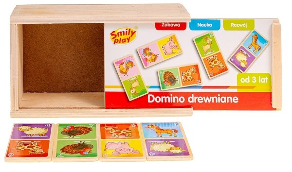 Smily Play DOMINO DREWNIANE Klocki FARMA SPW83591
