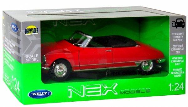 CITROEN DS 19 Cabriolet Auto METALOWY MODEL Welly 1:24