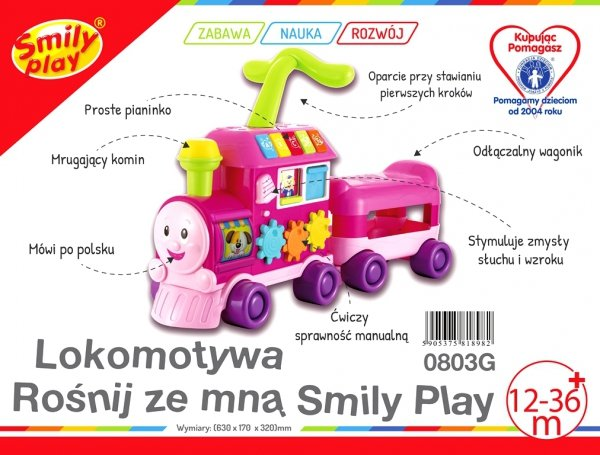 Lokomotywa ROŚNIJ ZE MNĄ Pchacz Smily Play 0803