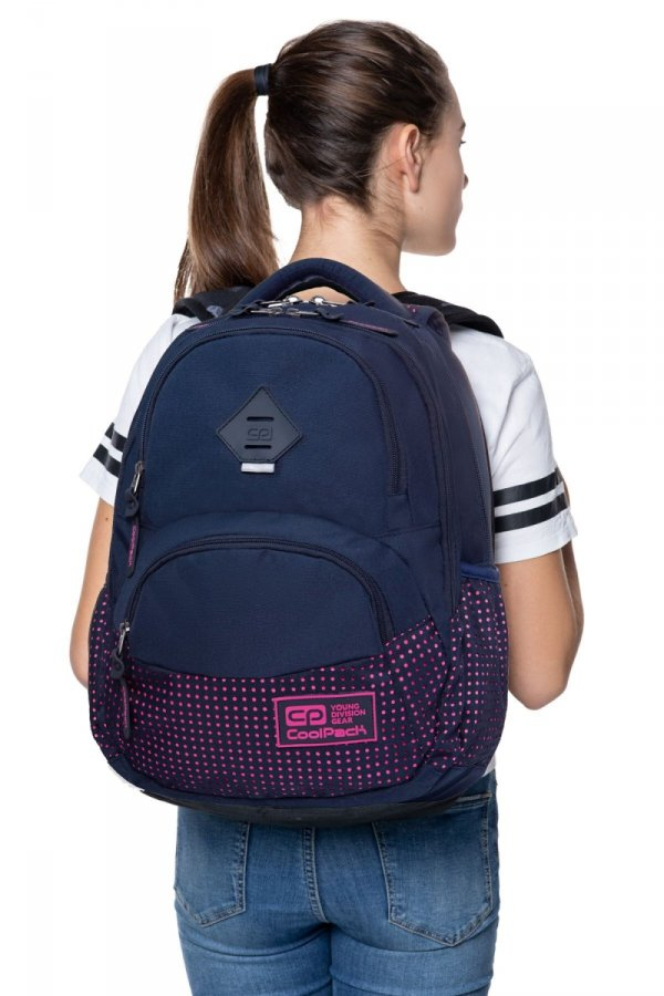 Coolpack PLECAK DART II Dots Pink Navy B30061 Kropki 27L