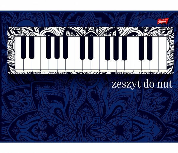 ZESZYT DO NUT Pianino A5 16 Kartkowy