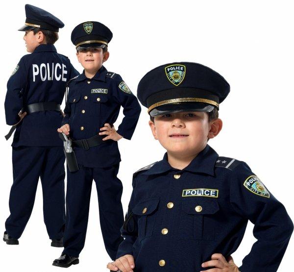 POLICJANT Amerykański USA Strój KARNAWAŁOWY 128 Kinderbal