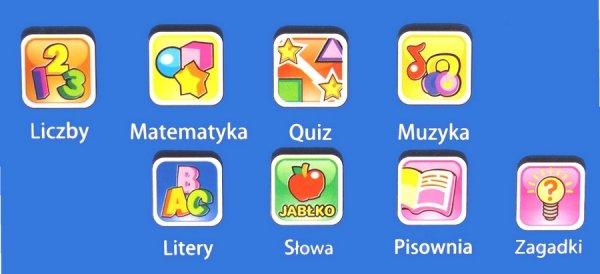 Mój Mały LAPTOP Edukacyjny dla Dzieci NAUKA Zabawa PL