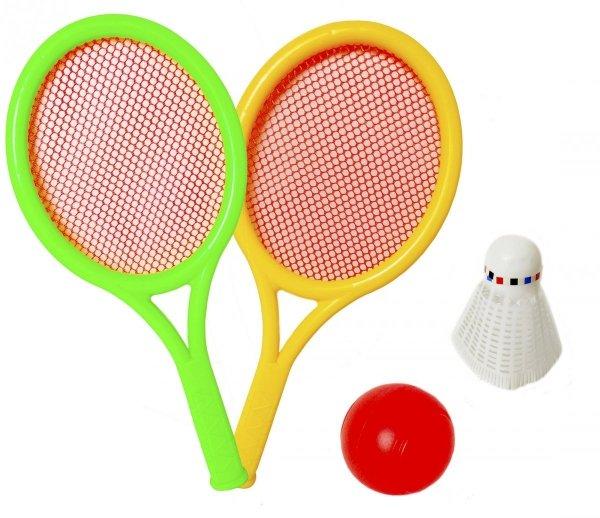 Zestaw GRA Badminton RAKIETKA Plażowa Piłka Lotka