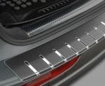 VW TIGUAN II od 2016 Nakładka z zagięciem na zderzak (stal + folia karbonowa)