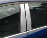 FORD FIESTA VII od 2008 Nakładki na słupki drzwi (aluminium) [ 4szt ]