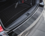 BMW 3 F31 Touring od 2012 Nakładka na zderzak TRAPEZ Czarna szczotkowana