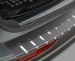VW JETTA VI od 2011-2014 Nakładka na zderzak z zagięciem (stal + folia karbonowa)