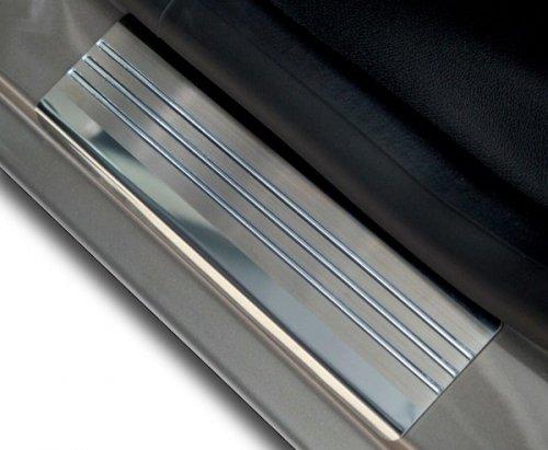 VW SCIROCCO od 2008 Nakładki progowe - stal + poliuretan [ 2szt ]