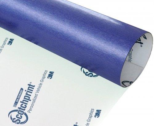 Folia szczotkowana niebieska stal 3M BR217 152x300cm