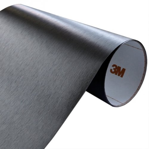Folia Szczotkowane Aluminium Czarne 3M ME1175 60x100cm
