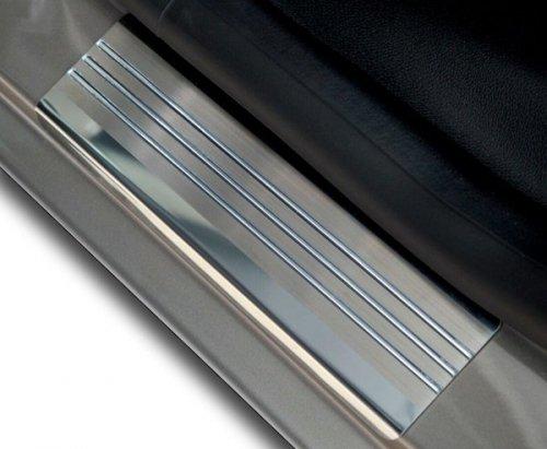FIAT 500L od 2013 Nakładki progowe - stal + poliuretan [ 4szt ]
