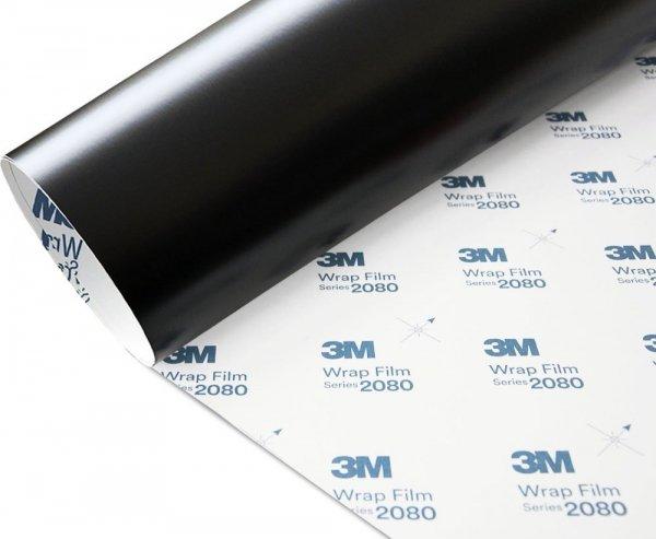 Folia Czarny Mat Satyna 3M S12 2080 10x20cm