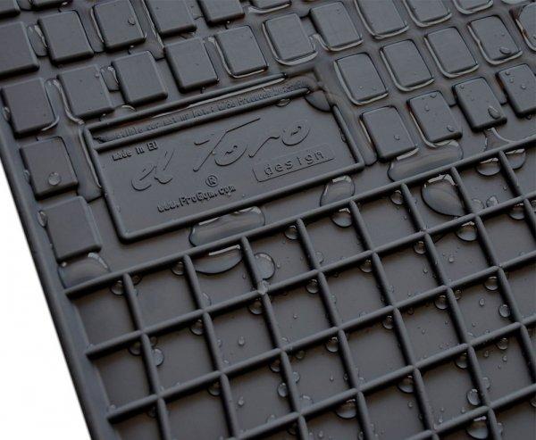 Dywaniki gumowe czarne SCANIA RiS 2016-