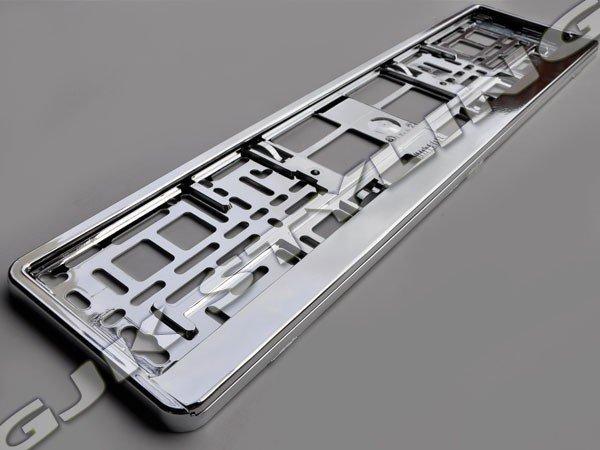 Ramka pod tablice rejestracyjną Metalizowana
