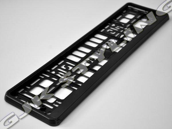 Ramka pod tablice rejestracyjną matowa czarna