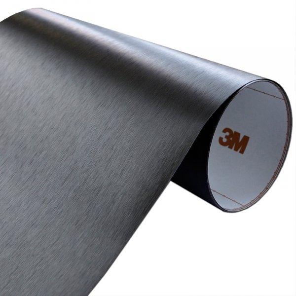 Folia Szczotkowane Aluminium Czarne 3M ME1175 122x150cm