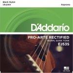 D'Addario EJ53S struny do ukulele sopranowego czarne