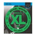 D'Addario EXL220-5 - XL Nickel 5-String 40-125
