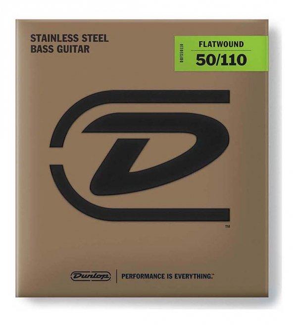 Dunlop DBFS050110 struny basowe stal flaty 50-110 skala długa