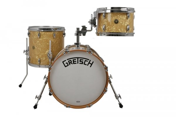 "Gretsch Broadkaster 18"",12"",14"" Antique Pearl shell set"