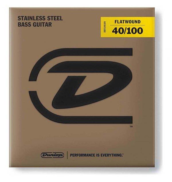 Dunlop DBFSM040100 struny basowe stal flaty 40-100 skala średnia