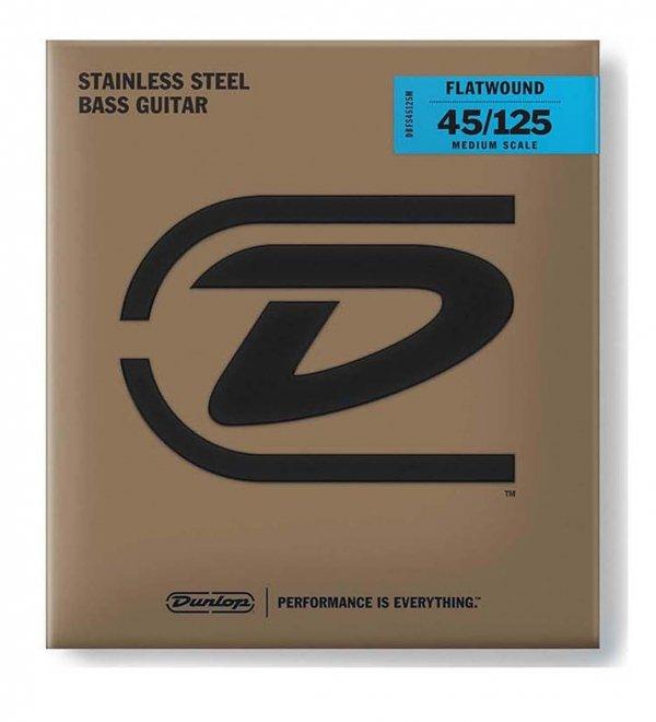 Dunlop DBFS045125 struny basowe stal flaty 45-125 skala długa