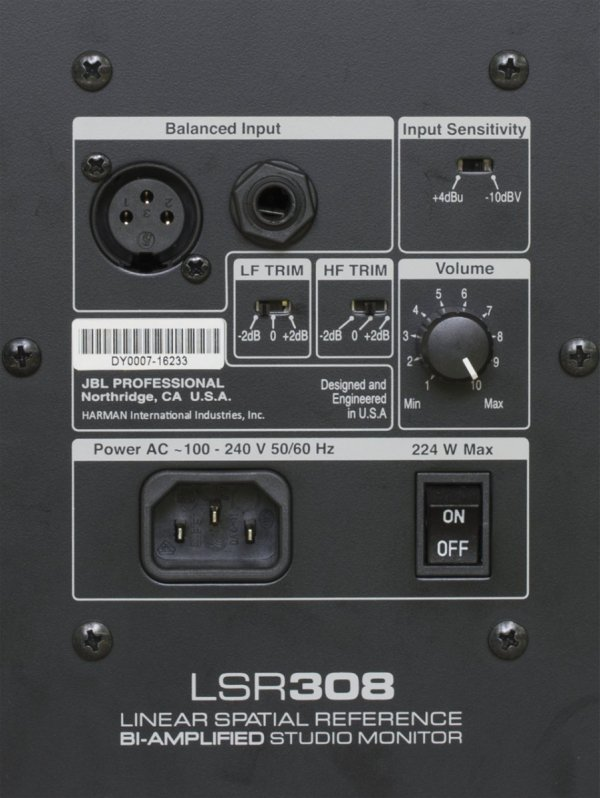 "JBL LSR308 aktywny monitor studyjny 8"""