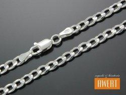 PANCERKA łańcuch srebrny 50 cm / 4,3 mm