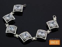 AIDA srebrna bransoleta z dużymi cyrkoniami