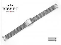 BISSET 12 mm bransoleta stalowa mesh BM101 srebrna