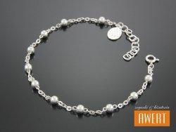 Różaniec srebrny bransoletka na rękę CM