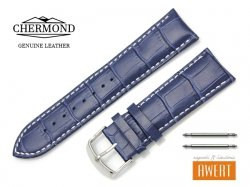CHERMOND 24 mm pasek skórzany C101 niebieski