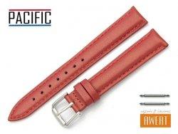 PACIFIC 16 mm pasek skórzany W114 czerwony perłowy