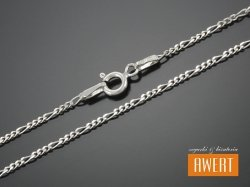FIGARO łańcuszek srebrny diamentowany 60 cm / 1,4 mm