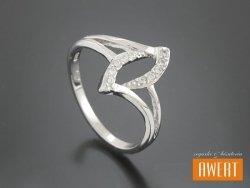 ADDA CRYSTAL srebrny pierścionek z cyrkoniami roz. 11